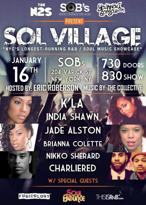 SOB's PRESENTS: SOL VILLAGE!